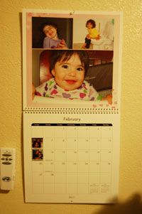 2011 Calendar from snap fish