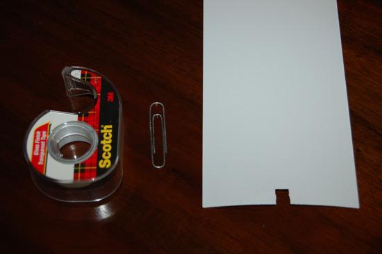Scotch Tape Paper clip and Broken Vertical Blind