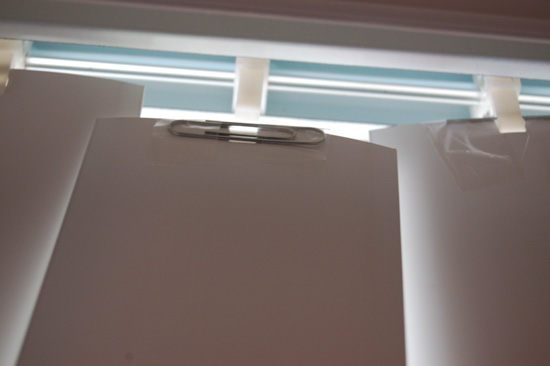 Clip the Vertical Blind back on its track